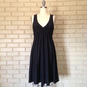 Patagonia Twist Front Black Knit Stretch Dress